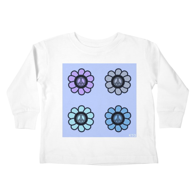 Flower Power and Peace 2 Kids Toddler Longsleeve T-Shirt by Karmic Reaction Art