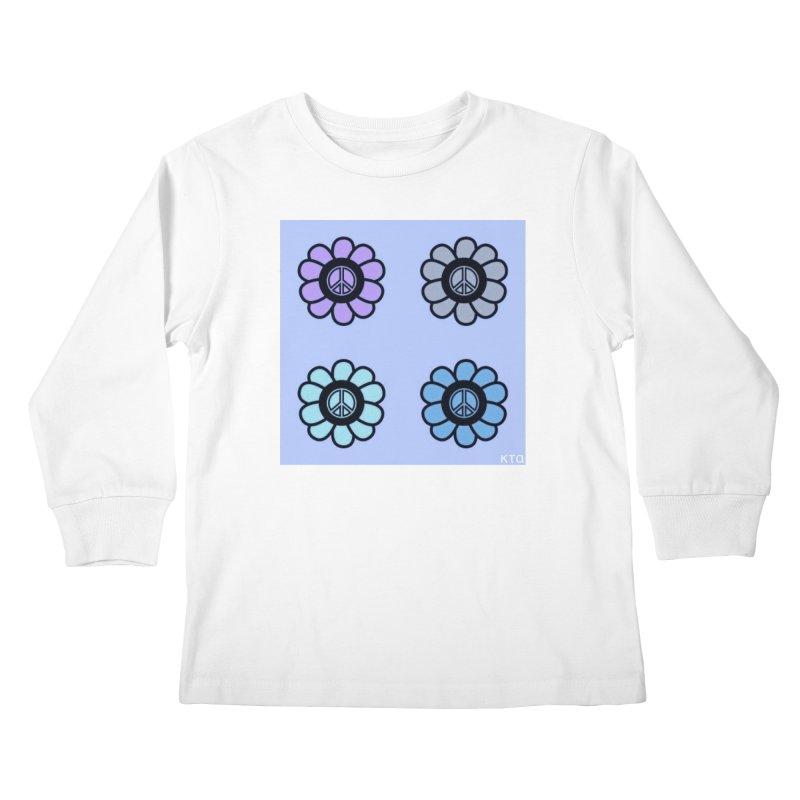 Flower Power and Peace 2 Kids Longsleeve T-Shirt by Karmic Reaction Art