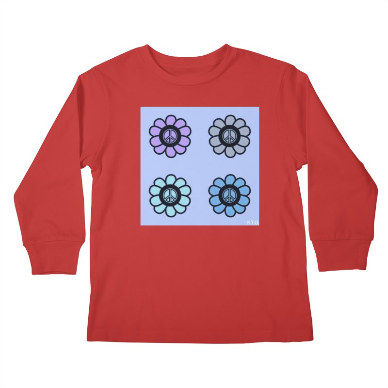 Flower Power and Peace 2 Kids Longsleeve T-Shirt by Karmic Reaction Art
