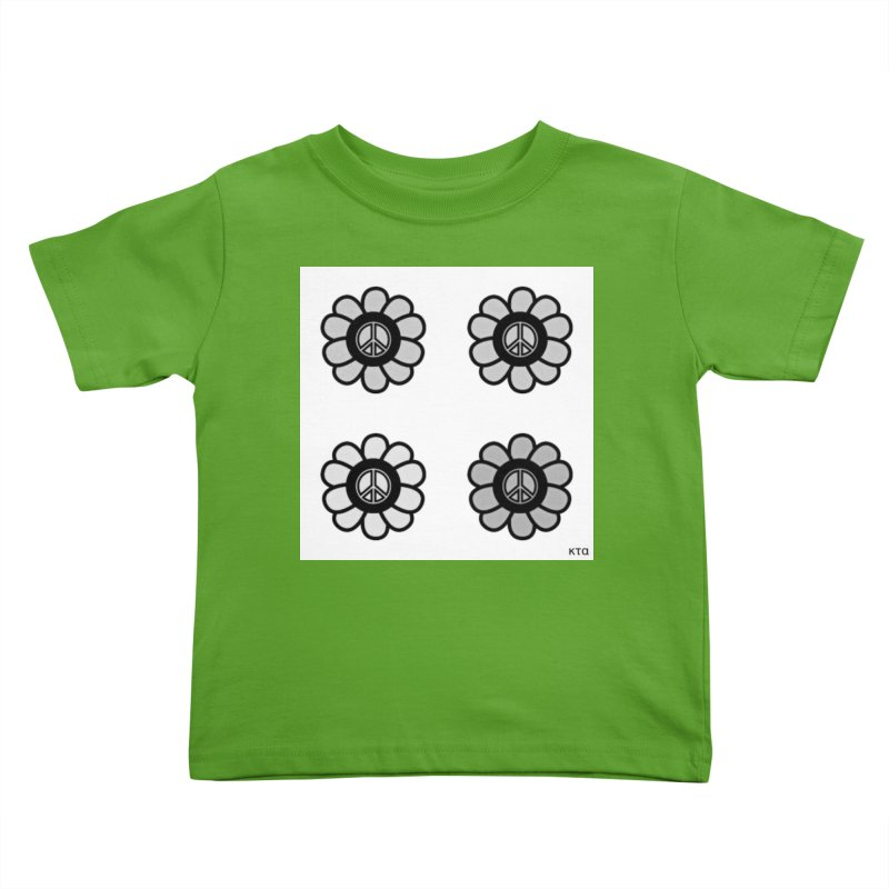 Flower Power and Peace 3 Kids Toddler T-Shirt by Karmic Reaction Art