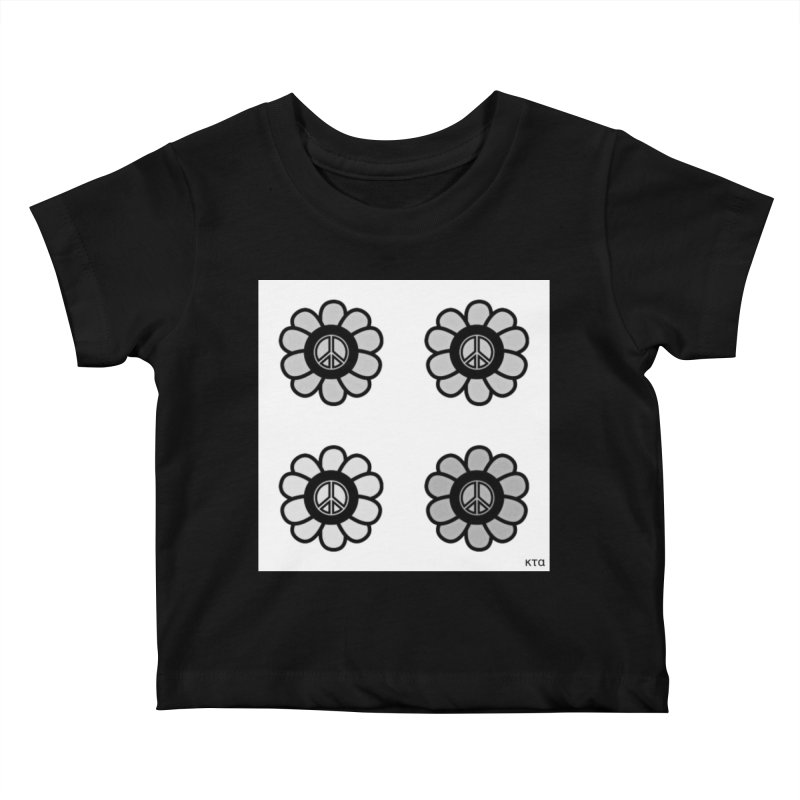 Flower Power and Peace 3 Kids Baby T-Shirt by Karmic Reaction Art