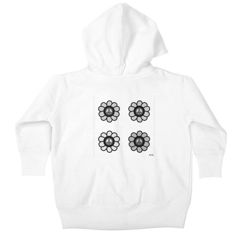 Flower Power and Peace 3 Kids Baby Zip-Up Hoody by Karmic Reaction Art