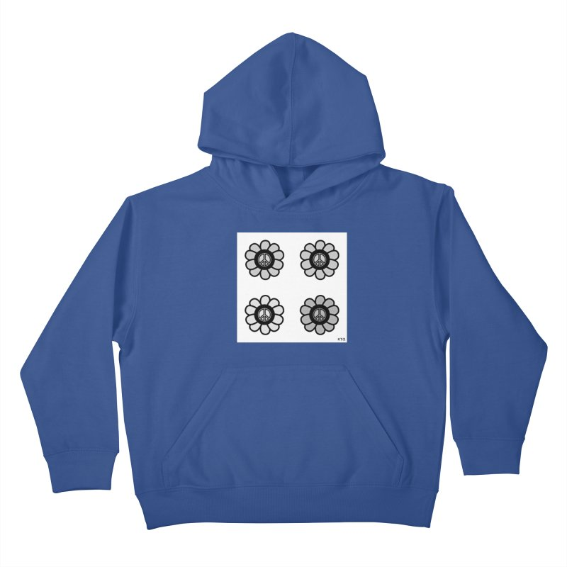 Flower Power and Peace 3 Kids Pullover Hoody by Karmic Reaction Art