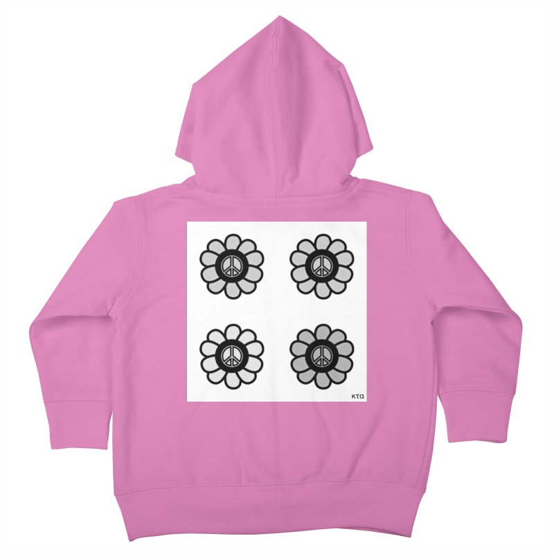 Flower Power and Peace 3 Kids Toddler Zip-Up Hoody by Karmic Reaction Art