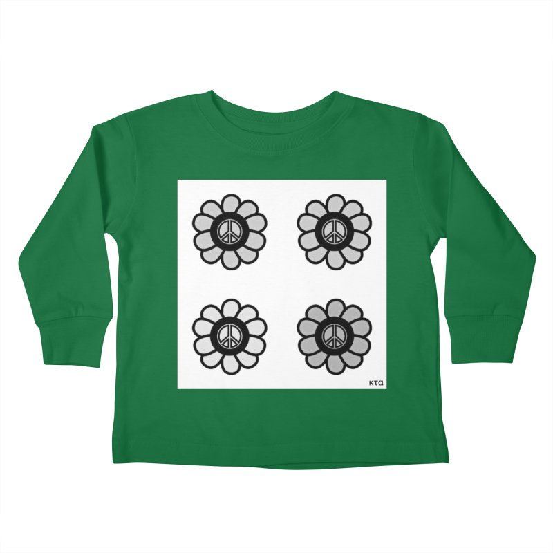 Flower Power and Peace 3 Kids Toddler Longsleeve T-Shirt by Karmic Reaction Art