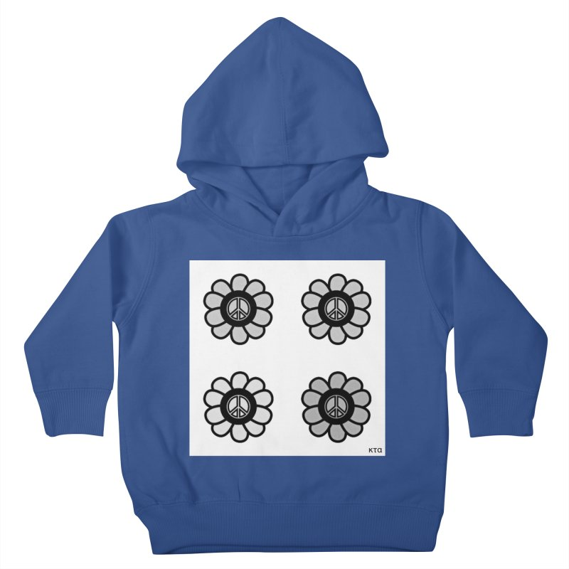 Flower Power and Peace 3 Kids Toddler Pullover Hoody by Karmic Reaction Art
