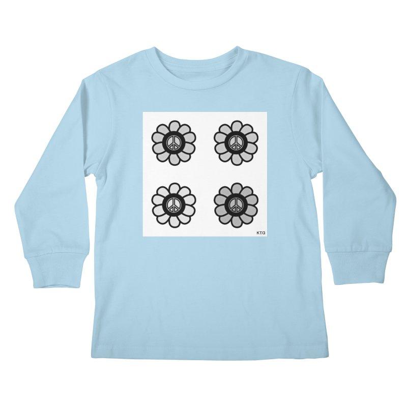 Flower Power and Peace 3 Kids Longsleeve T-Shirt by Karmic Reaction Art