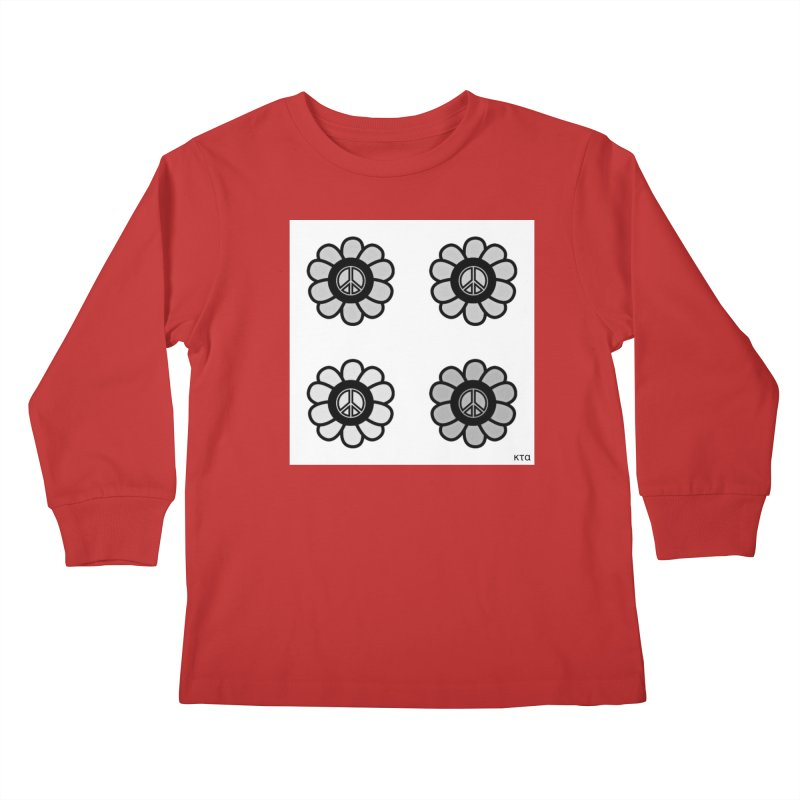 Flower Power and Peace 3 Kids Longsleeve T-Shirt by Karmic Reaction Art