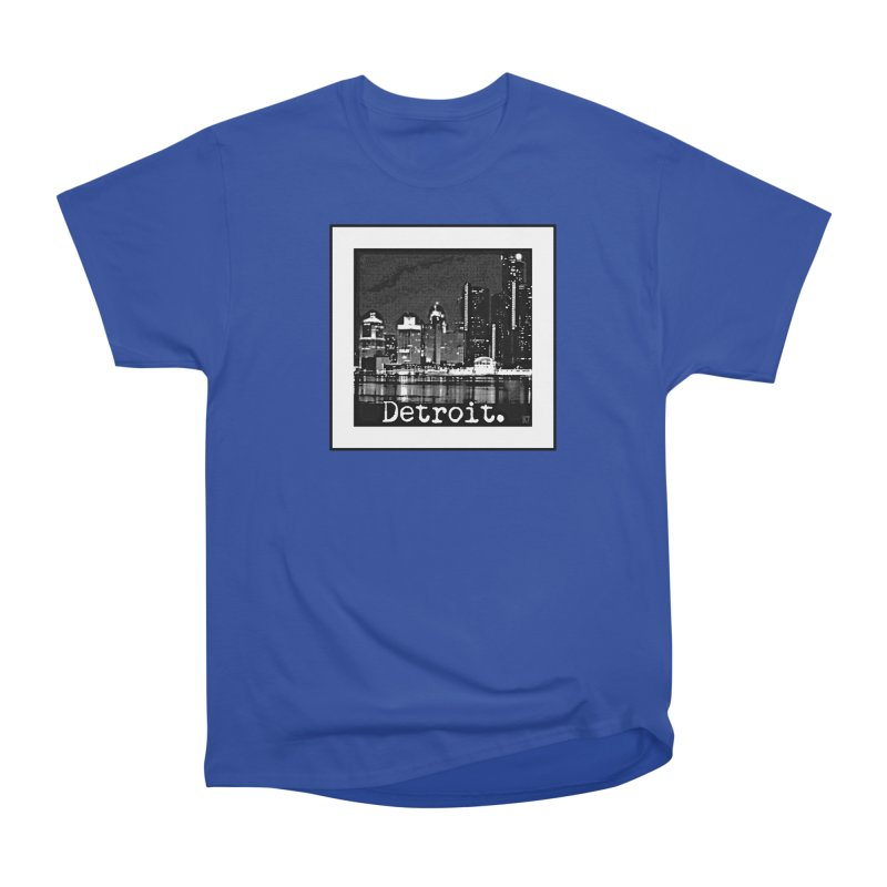 Detroit: Black and White 1 Women's Heavyweight Unisex T-Shirt by Karmic Reaction Art