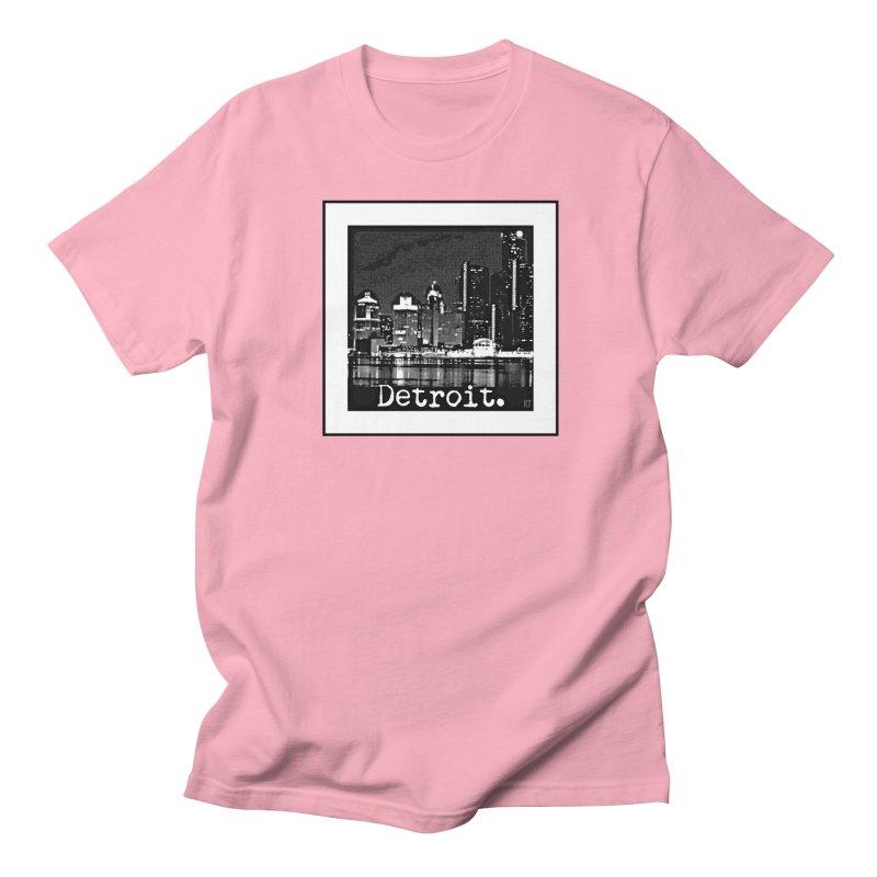 Detroit: Black and White 1 Women's Regular Unisex T-Shirt by Karmic Reaction Art