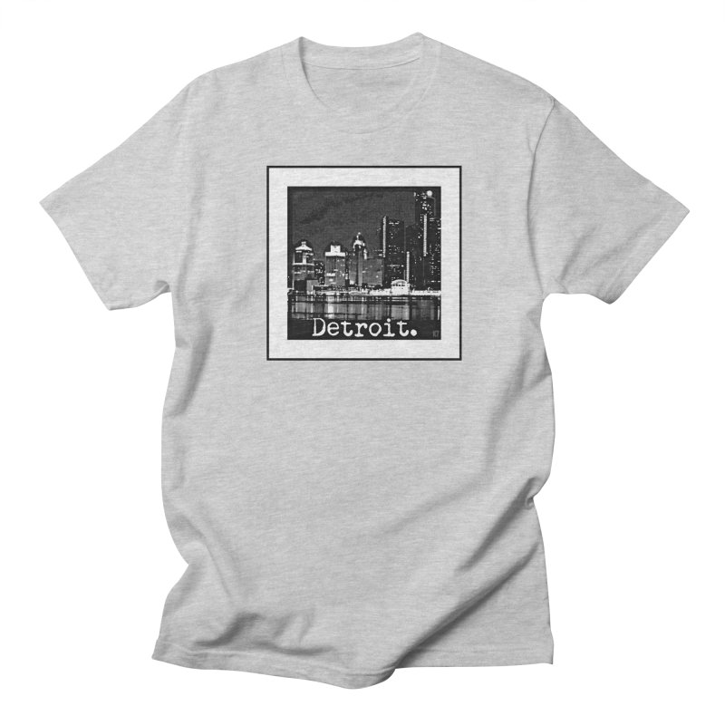 Detroit: Black and White 1 Women's Regular Unisex T-Shirt by Karmic Reaction Art