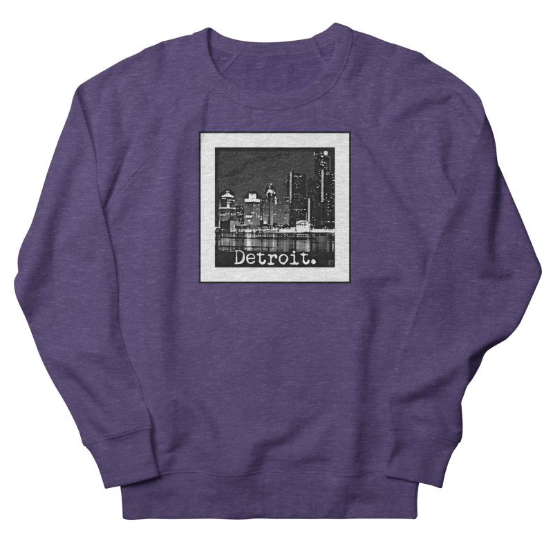 Detroit: Black and White 1 Women's French Terry Sweatshirt by Karmic Reaction Art