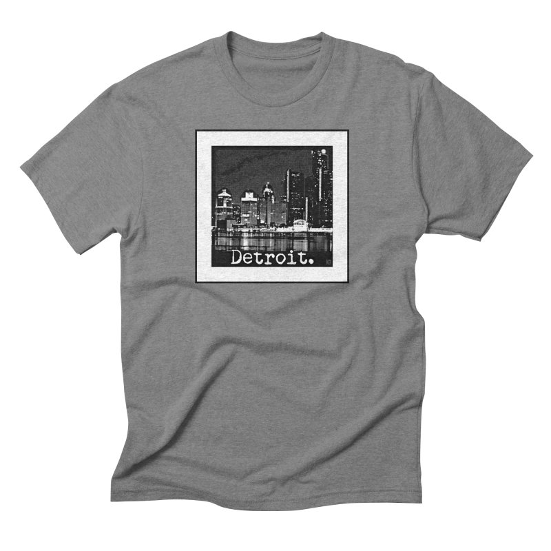 Detroit: Black and White 1 Men's Triblend T-Shirt by Karmic Reaction Art