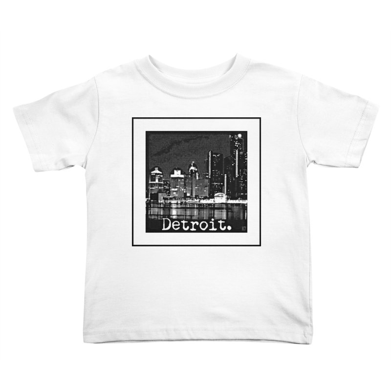 Detroit: Black and White 1 Kids Toddler T-Shirt by Karmic Reaction Art