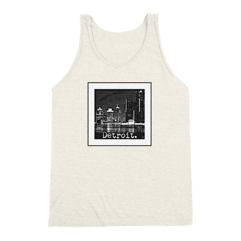 Detroit: Black and White 1 Men's Triblend Tank by Karmic Reaction Art