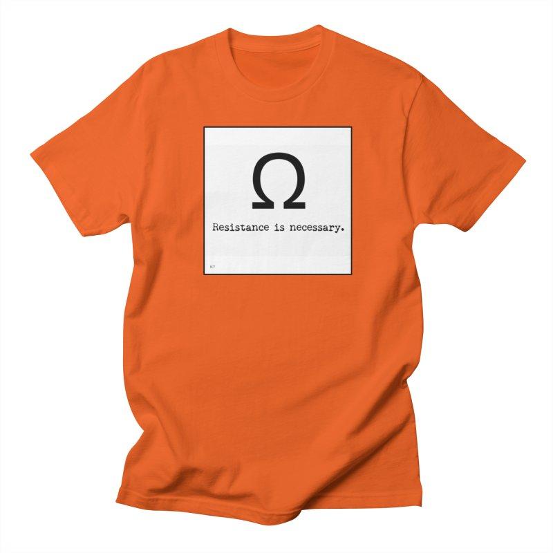 Resistance is Necessary 1 Men's Regular T-Shirt by Karmic Reaction Art