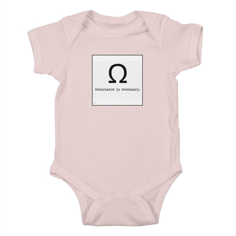 Resistance is Necessary 1 Kids Baby Bodysuit by Karmic Reaction Art