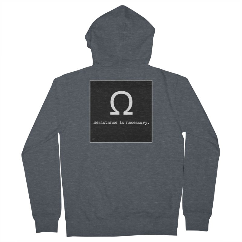 Resistance is Necessary 2 Men's French Terry Zip-Up Hoody by Karmic Reaction Art