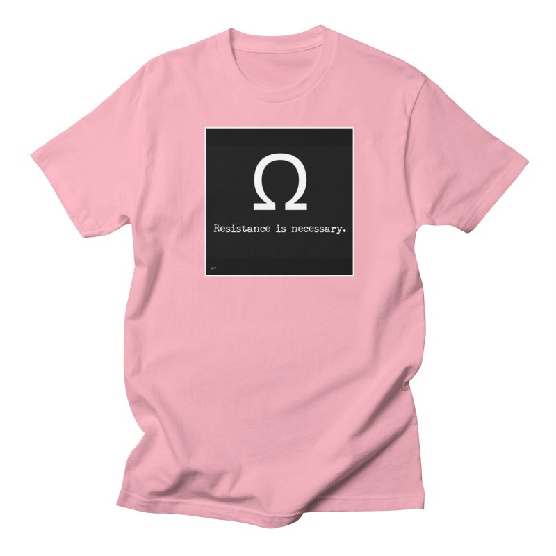 Resistance is Necessary 2 Men's Regular T-Shirt by Karmic Reaction Art