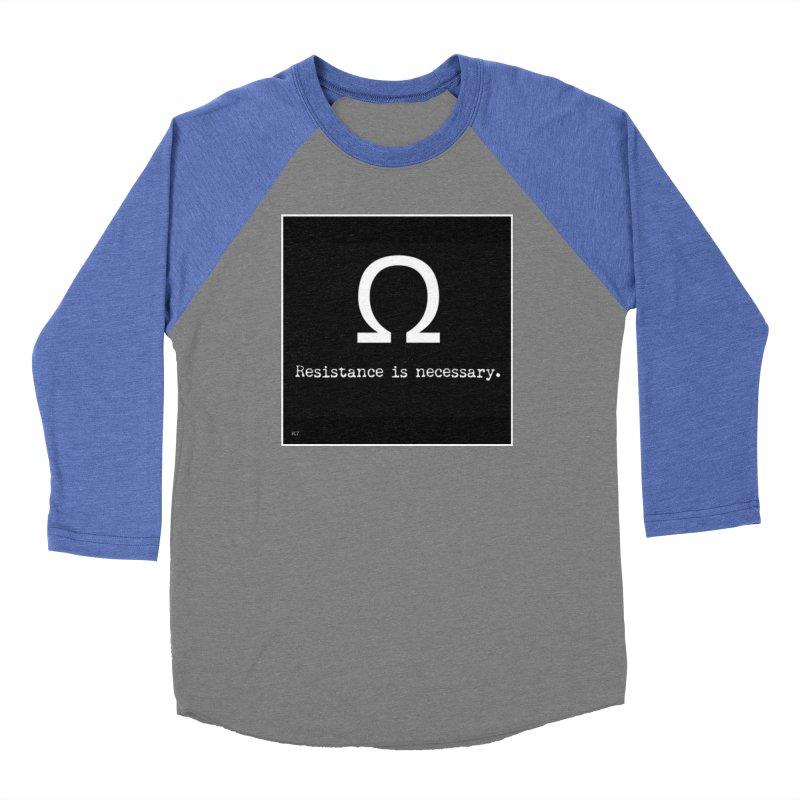 Resistance is Necessary 2 Men's Baseball Triblend Longsleeve T-Shirt by Karmic Reaction Art