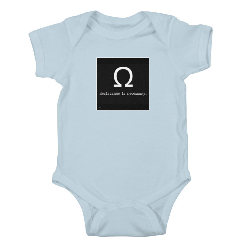 Resistance is Necessary 2 Kids Baby Bodysuit by Karmic Reaction Art