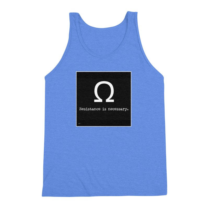 Resistance is Necessary 2 Men's Triblend Tank by Karmic Reaction Art