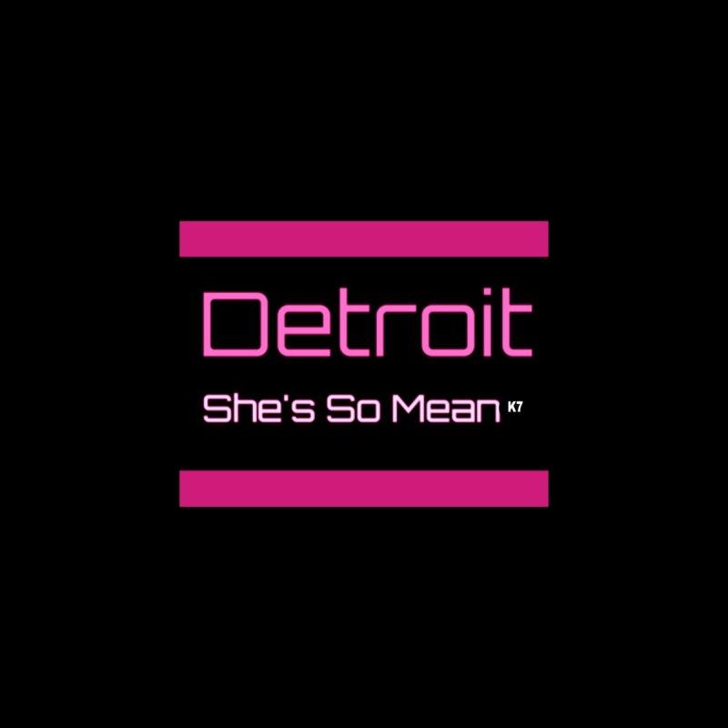 Detroit: She's So Mean Pink Home Fine Art Print by Karmic Reaction Art