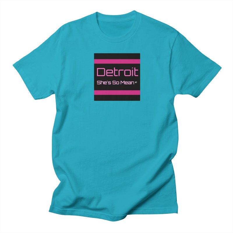 Detroit: She's So Mean Pink Women's Regular Unisex T-Shirt by Karmic Reaction Art