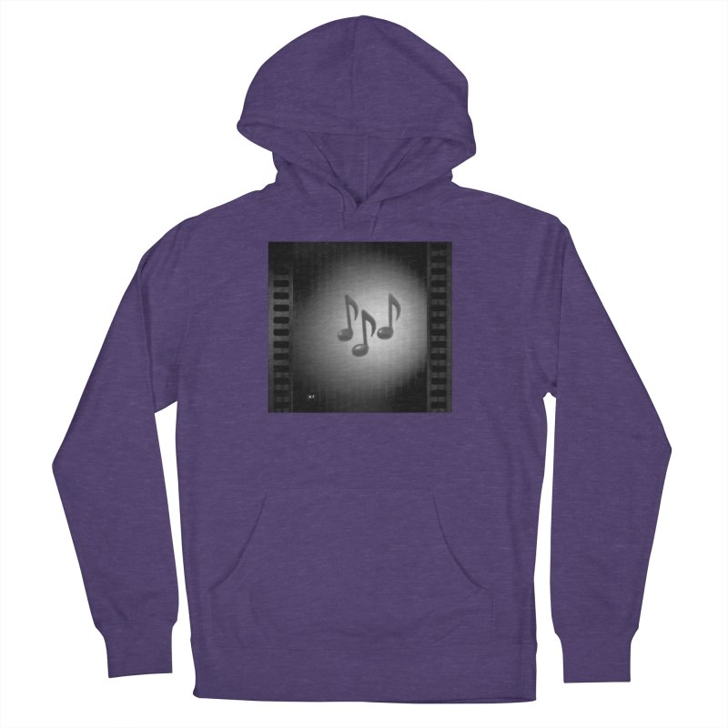 Music: Black and White Women's French Terry Pullover Hoody by Karmic Reaction Art