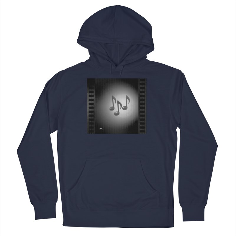 Music: Black and White Men's French Terry Pullover Hoody by Karmic Reaction Art
