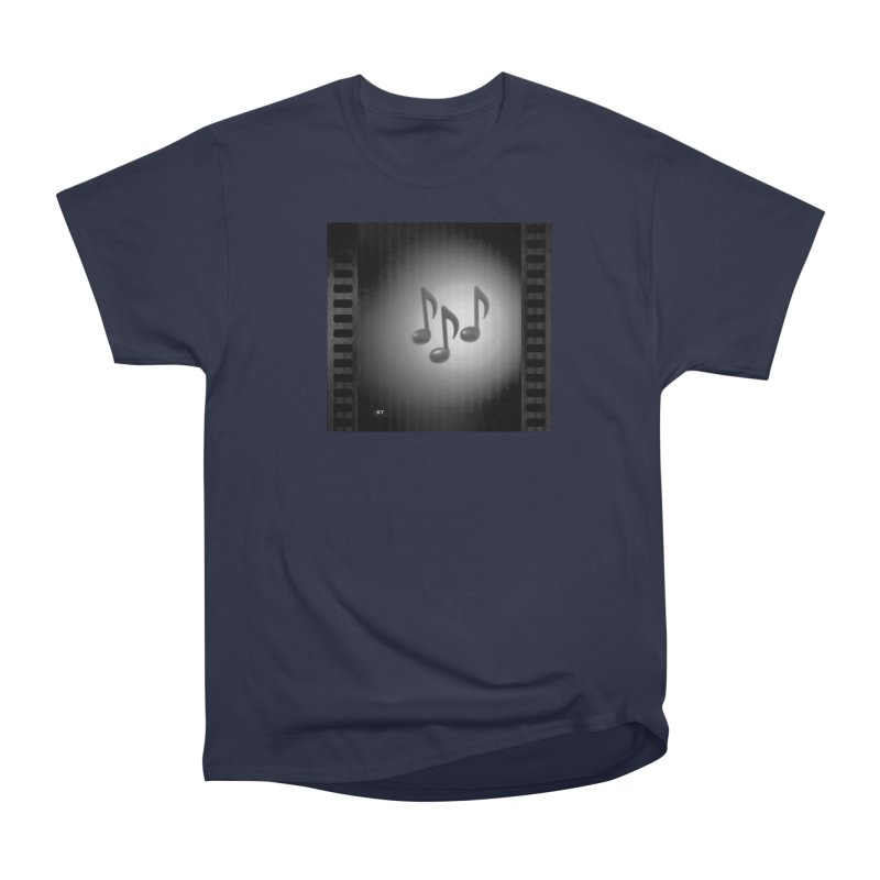 Music: Black and White Men's Heavyweight T-Shirt by Karmic Reaction Art