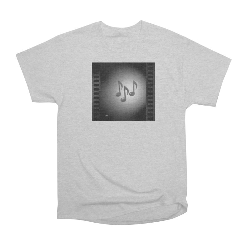 Music: Black and White Men's Heavyweight T-Shirt by Karmic Reaction Art