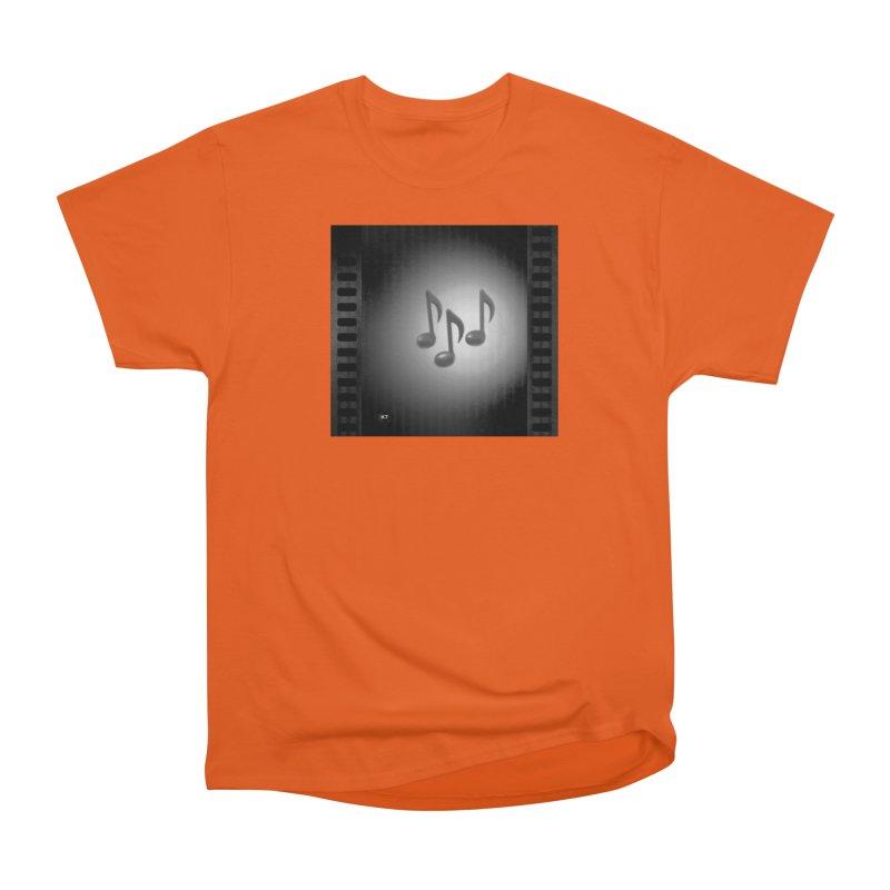Music: Black and White Women's Heavyweight Unisex T-Shirt by Karmic Reaction Art