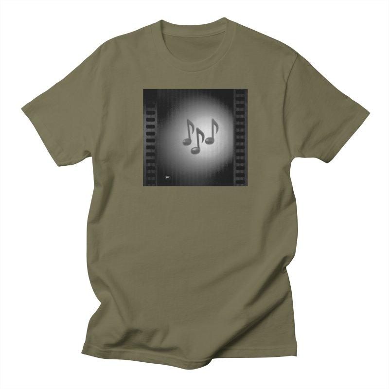 Music: Black and White Women's Regular Unisex T-Shirt by Karmic Reaction Art