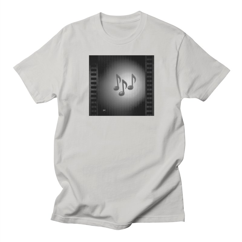 Music: Black and White Women's Regular Unisex T-Shirt by Karmic Reaction Art