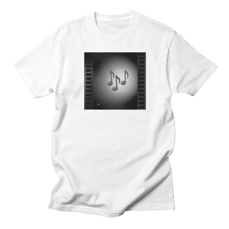 Music: Black and White Men's Regular T-Shirt by Karmic Reaction Art