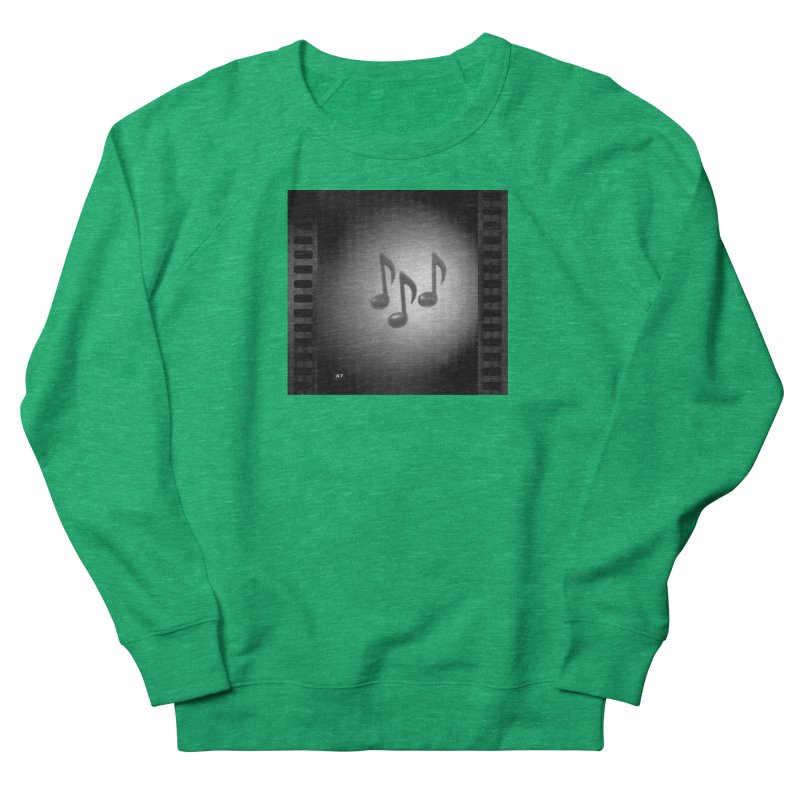 Music: Black and White Women's French Terry Sweatshirt by Karmic Reaction Art