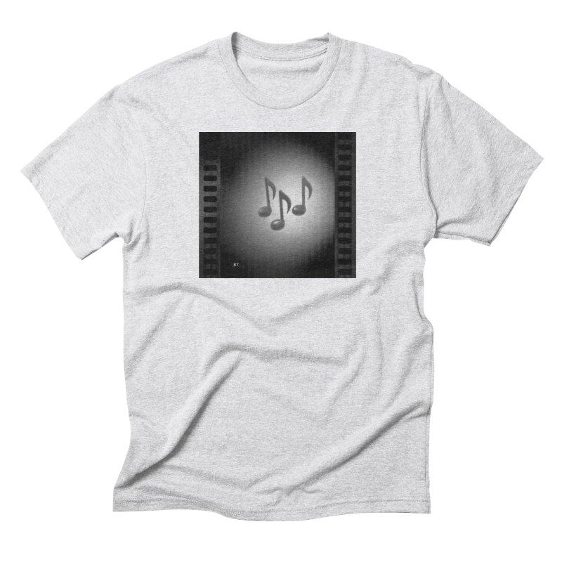 Music: Black and White Men's Triblend T-Shirt by Karmic Reaction Art