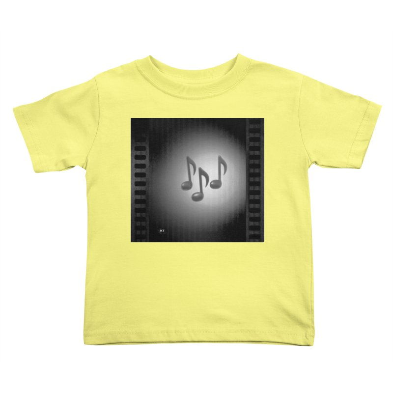 Music: Black and White Kids Toddler T-Shirt by Karmic Reaction Art