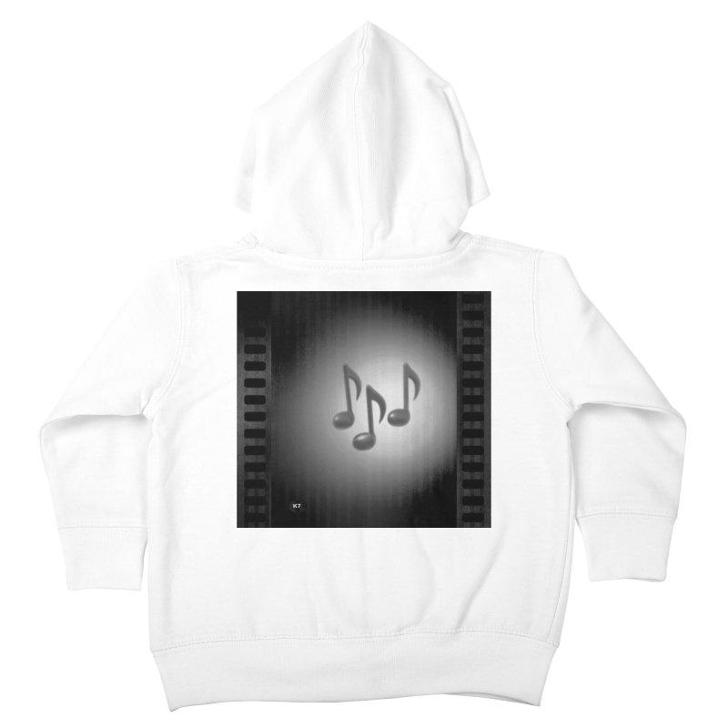 Music: Black and White Kids Toddler Zip-Up Hoody by Karmic Reaction Art