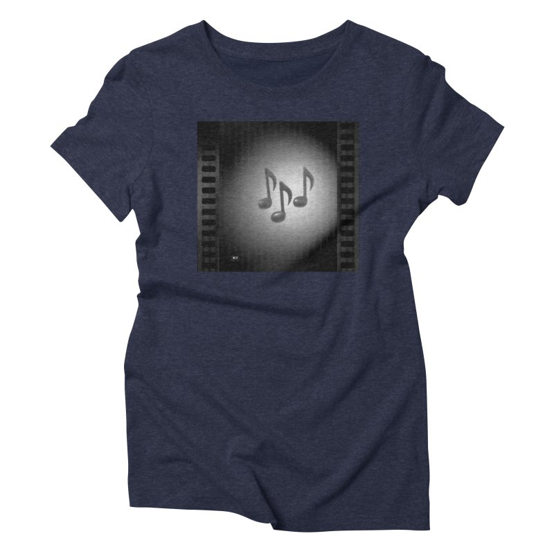 Music: Black and White Women's Triblend T-Shirt by Karmic Reaction Art