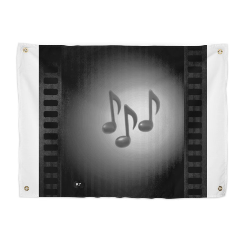 Music: Black and White Home Tapestry by Karmic Reaction Art