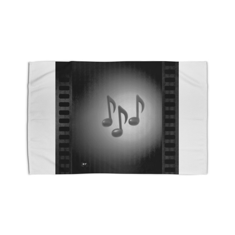 Music: Black and White Home Rug by Karmic Reaction Art