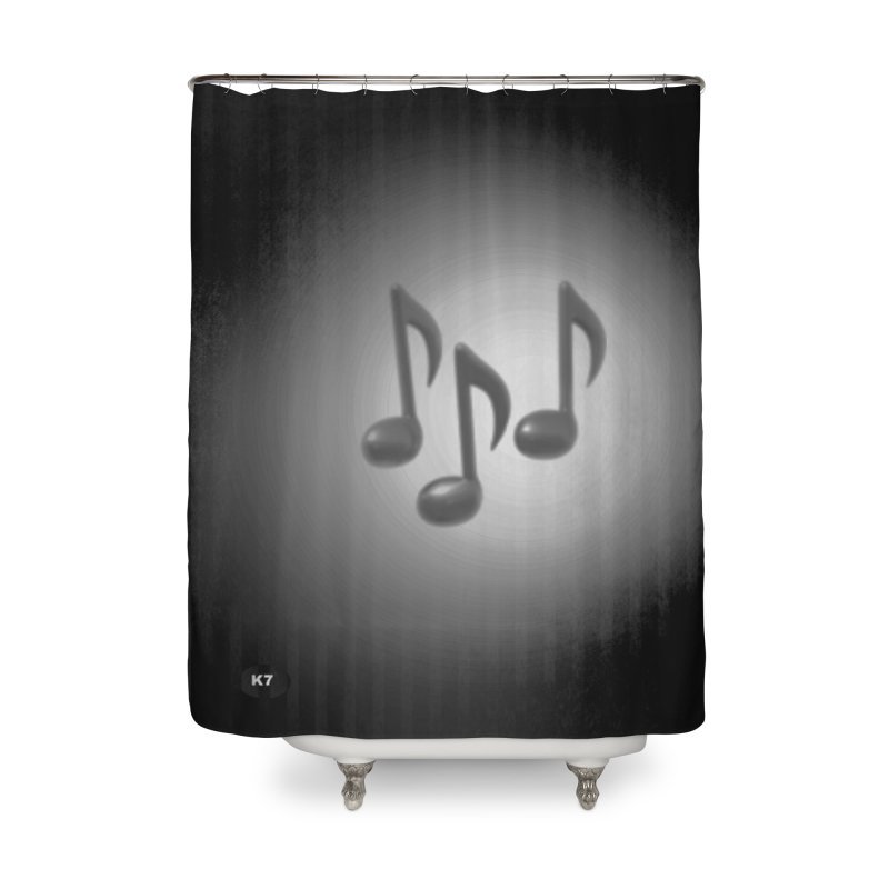 Music: Black and White Home Shower Curtain by Karmic Reaction Art