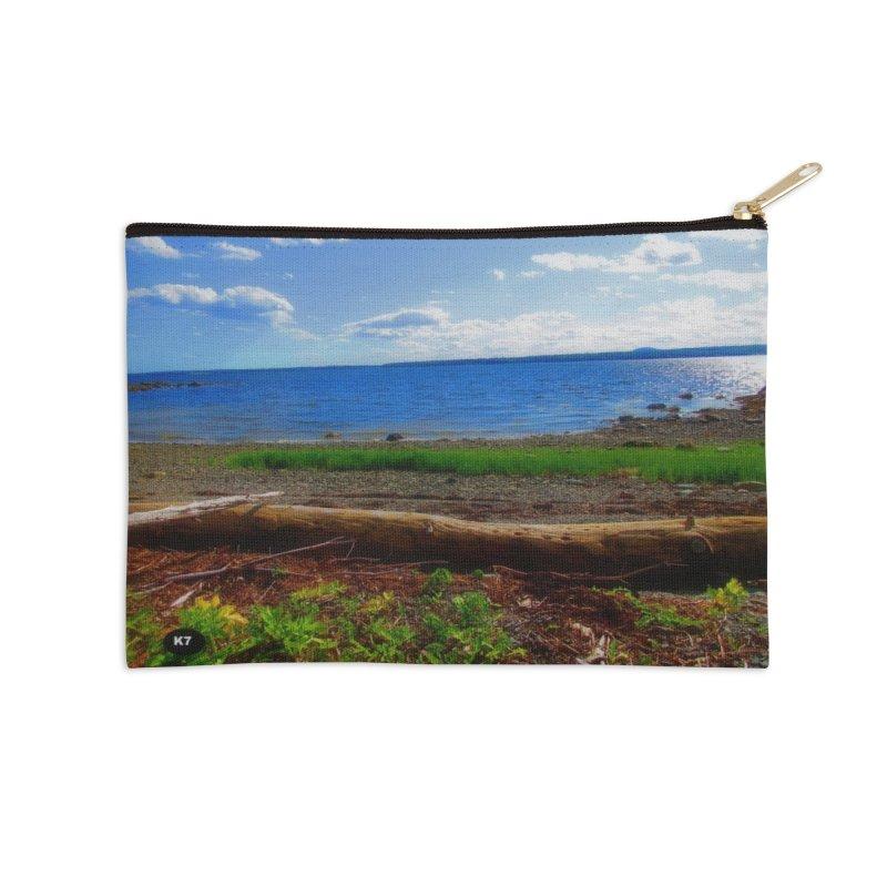 Atlantic Coast 3 Accessories Zip Pouch by Karmic Reaction Art