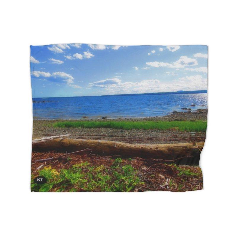 Atlantic Coast 3 Home Fleece Blanket Blanket by Karmic Reaction Art