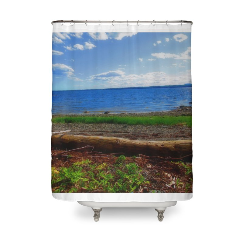 Atlantic Coast 3 Home Shower Curtain by Karmic Reaction Art