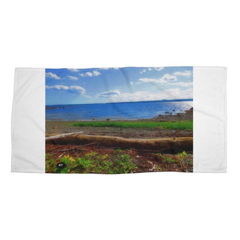 Atlantic Coast 3 Accessories Beach Towel by Karmic Reaction Art