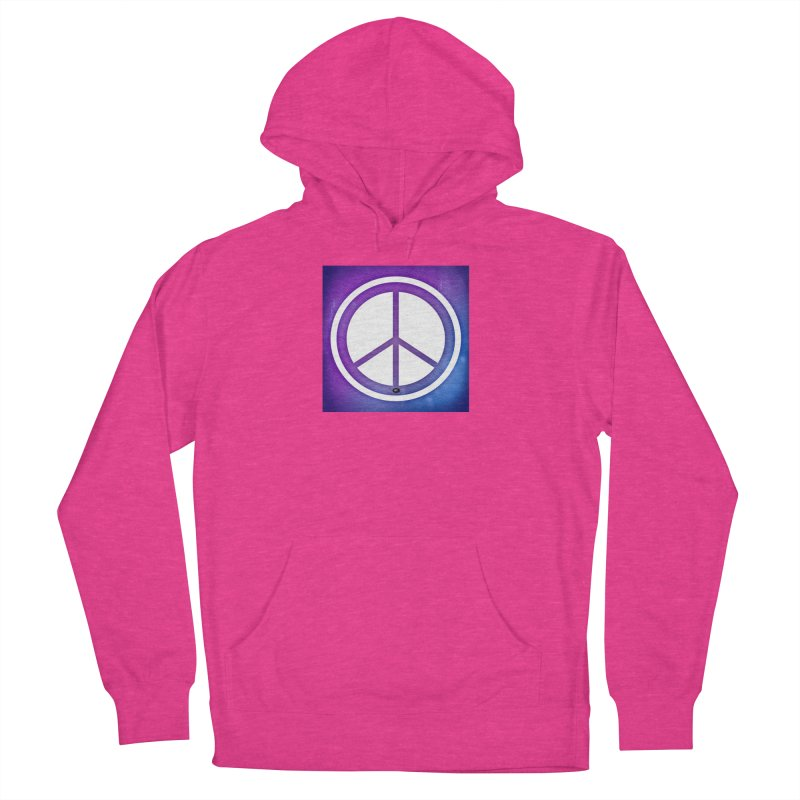 Peace 1 Women's French Terry Pullover Hoody by Karmic Reaction Art
