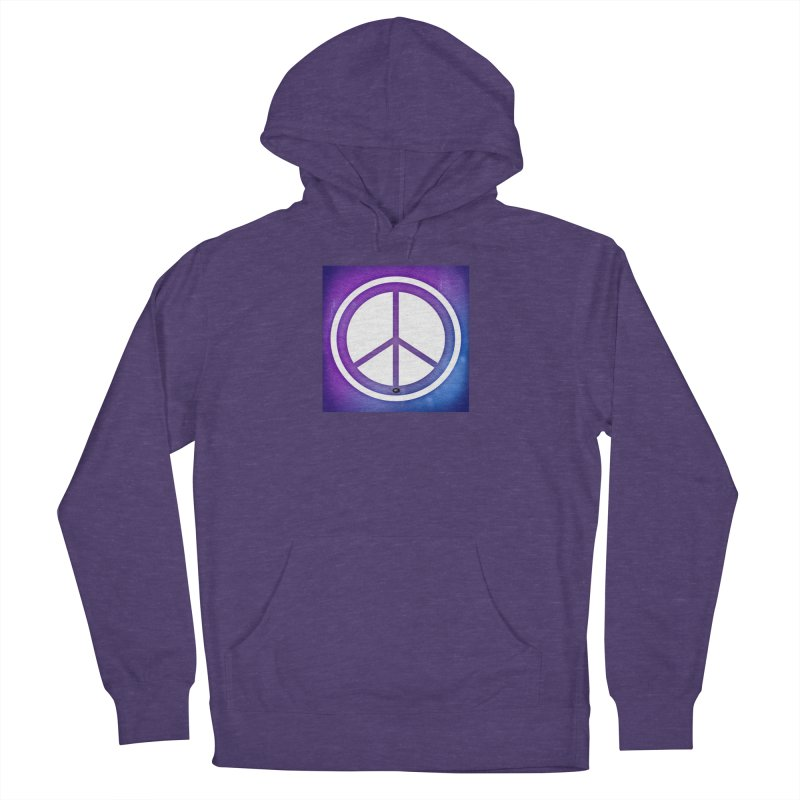 Peace 1 Men's French Terry Pullover Hoody by Karmic Reaction Art